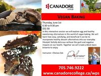 Cooking Class, Vegan Baking, Canadore College, Parry Sound