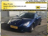 2001 TOYOTA CELICA 1.8 VVTL-i SPORTS 190 BHP * 12 MONTH WARRANTY INCLUDED