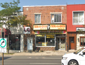 St-Laurent blvd.  Fully equipped fast food Restaurant for rent