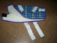 Foggy Mountain plaid shearling lined winter DOG coat size 18