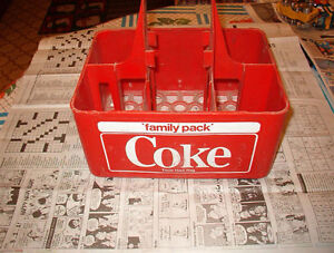 Coke coca cola 6 pack plastic carrier