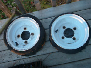 "8 "" trailer rims $10.00 can deliver"