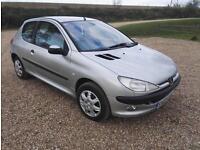 2003 03 Peugeot Petrol 206 1.1 LX ( a/c )