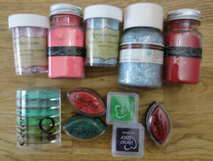 Embossing Powder, Pigment Ink & Glitter Lot