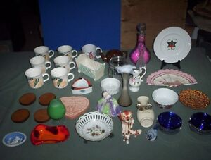 Crafting & Vintage China & Collectables Lot (See both Photos)
