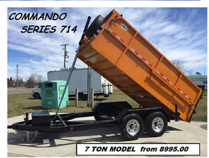 DUMP TRAILER NEW COMMANDO 14 FT MODEL MID SEASON SALE