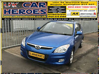 2008 HYUNDAI i30 COMFORT 1.6 PETROL 5 DOOR * LOW TAX IND INSURANCE*FUL MOT*F/HIS