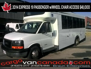 2014 Chevrolet Express 19 PASSENGER BUS w/ WHEEL CHAIR ACCESS