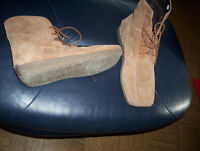womens 8 Denver Hayes suede leather ankle boots high top shoes