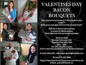 VALENTINES BACON BOUQUETS