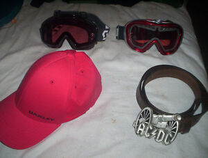 Goggles, Shoes, Belt and Hat