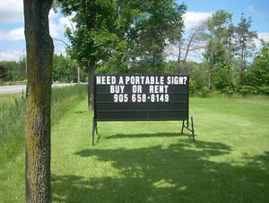 Portable Signs - For Rent!