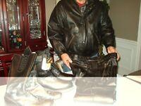 Jachet et bottes de moto