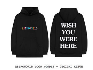 "ASTROWORLD LOGO HOODIE ""Wish You Were Here"" - XL"