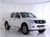 2013 Nissan Navara Double Cab Pick Up Visia 2.3dCi 160 4WD Diesel white Manual