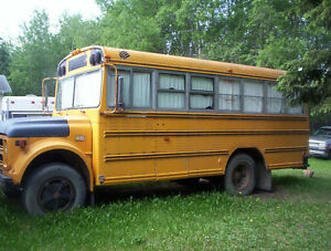 PARTIALLY CAMPERIZED SCHOOLBUS
