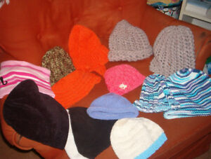 NEW knitted winter hats , children,s and adults.$3.00 ea