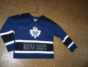 boys girls 6X Toronto Maple Leafs NHL jersey soft fleece blanket