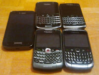 Blackberry 9700, 9300, Samsung S1, S2 + MORE, wind mobilicity