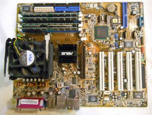Asus P4P800-E Motherboard, CPU, RAM