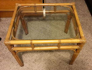 Rattan coffee and end tables Cambridge Kitchener Area image 1
