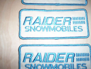 RAIDER Skidoo JACKET PATCHES AND OTHER PATCHES
