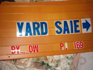 Sign & letters-  $8.00 can deliver