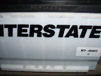 Battery Interstate Megatron Plus 730 CCA 1year old.