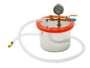 New Stainless Steel Vacuum Chamber for Concentrates Silicones Resins 2 Gallon 230512
