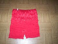 vintage sexy red hot petti panties ruffles & M nightie baby doll