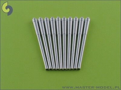 Master Model 1:350 British 14 Inch 356mm Mark VII Metal Barrels 10pc #SM350012 ()