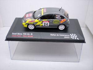 COCHE-SEAT-IBIZA-TDI-RALLYE-1-43-IXO-model-car-rally-fiat-Masip-Font-Salamanca