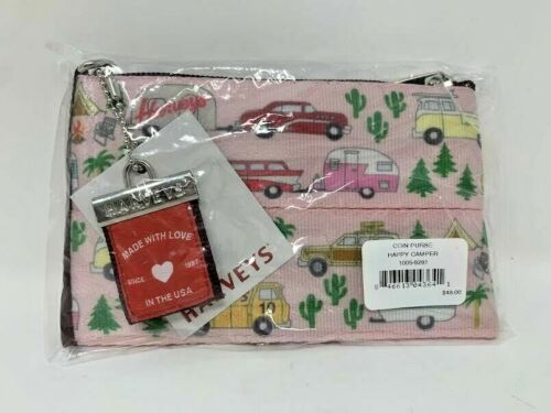 Harveys Seatbelt Happy Camper Coin Purse Bag New in Package Camping Airstream