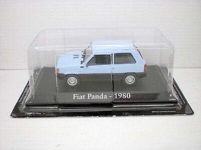CAR FIAT PANDA BLUE 1980 BRIGHT 1 43 143 METAL SEAT MINIATURE
