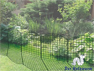 25 x Teichzaun Oberbogen Zaun Metall Zaunmatten Gittermatten Zierzaun Teichzäune