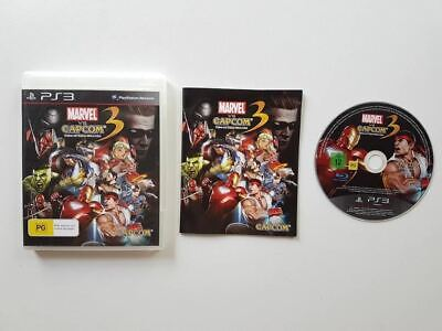 Marvel VS Capcom 3 Fate Of Two Worlds PS3 Used SAME DAY FREE SHIPPING