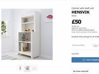 IKEA Cabinet with shelf unit HENSVIK White