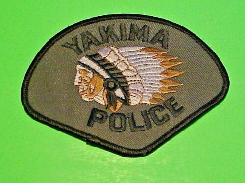 "YAKIMA WASHINGTON WA  ( INDIAN )  3 1/2 x 4 1/2""  SUBDUED  POLICE PATCH"
