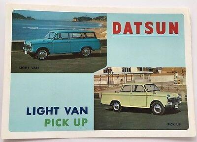 1964 Datsun Light Van and Truck English Original Car Sales Brochure Folder