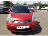 NISSAN NOTE 2008 REG 109,000 MILES 1.4 PETROL MPV MANUAL RED