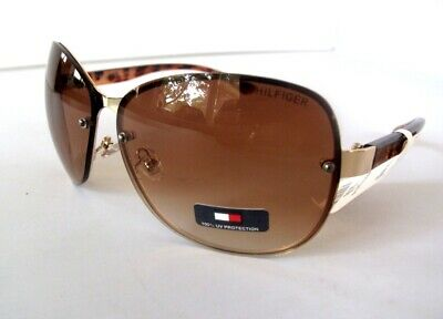New TOMMY HILFIGER Melone Womens Sunglasses Gold/Brown $60 (Womens Tommy Hilfiger Sonnenbrille)