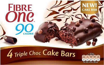 Bar Triple Chocolate (Fibre One 90 Calorie Triple Chocolate Cake Bars 4 x 25g)