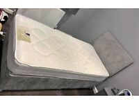 Divan Single Bed With Headboard & Mattress(opt)