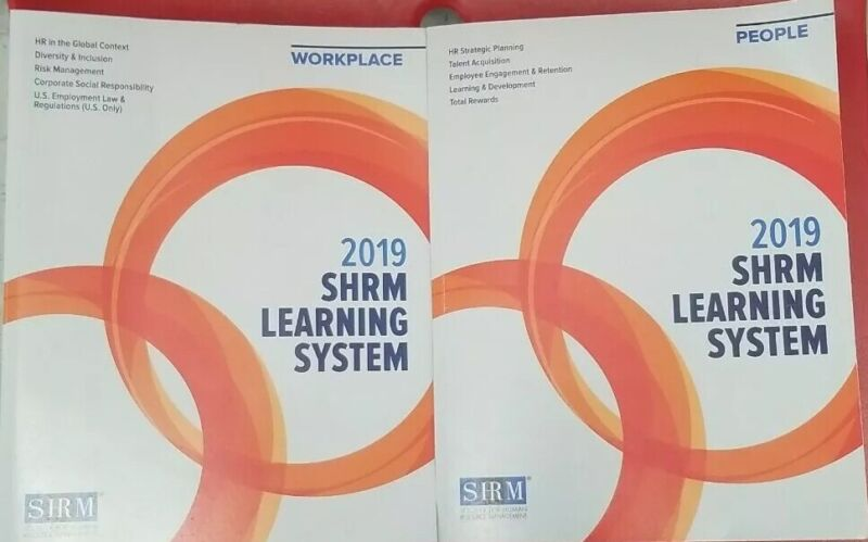 2019 SHRM Learning Systems Books (People & Work Place)