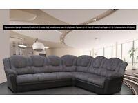 texas corner 3c2 sofa or 3+2 leaher/fabric sofa set £23 per week