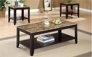 CAPPUCCINO / MARBLE TOP 3PCS PROMOTIONAL TABLE SET