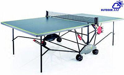 Kettler Axos Outdoor 3,Tischtennisplatte grau/gelb,TT-Platte wetterfest mit Netz gebraucht kaufen  Kerpen