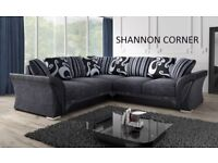 british made chenille grey and black corner sofa or 3 and 2 sofas with many more to choose from