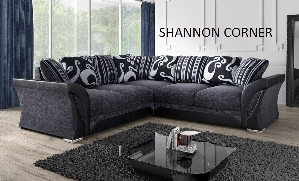marvellous corner black and grey fabric sofa or 3+2 sofas many more products on offer look at pics
