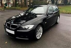 2008 BMW 320D M SPORT [177] TOURING - BLACK LEATHER - 1 YEARS MOT - JUST SERVICED (PART EX WELCOME)